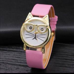 NWT Pink Cool Cat Watch with glasses. NEW